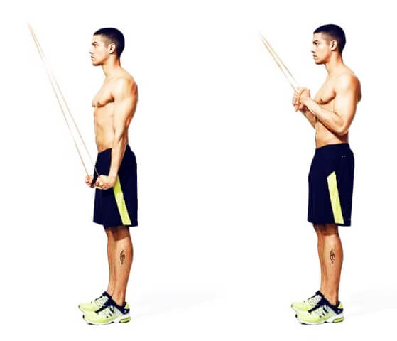 Resistance Rope Arm Exercises - Triceps Pushdown