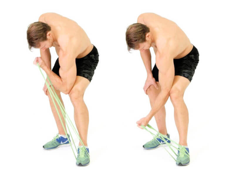 Resistance Rope Arm Exercises - Biceps Exercises - Concentration Curla Exercise
