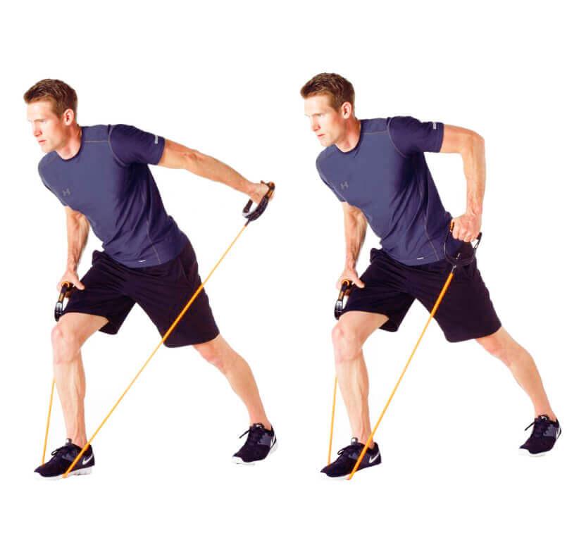 Resistance Rope Arm - Triceps Kickback