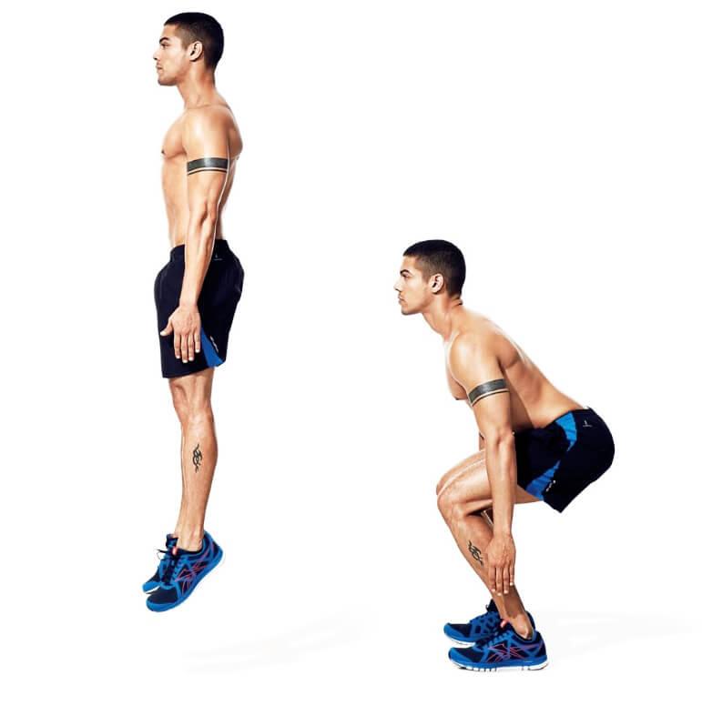 Cardio Exercise Squat jumps