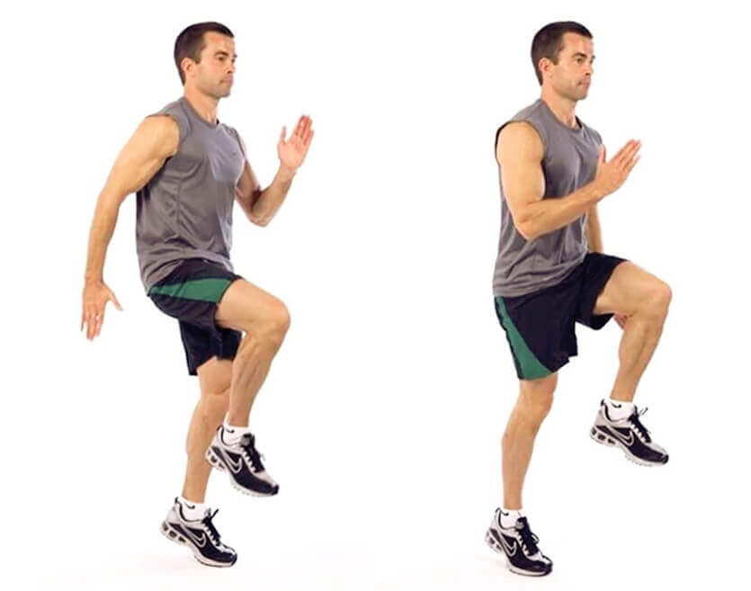 Cardio Running Exercises Running in place