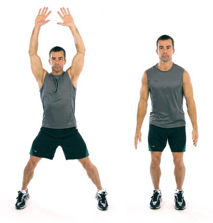Cardio jumping jacks